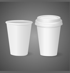 Realistic template cups for drinks vector