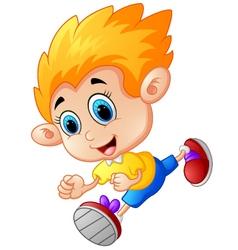 Running boy cartoon vector