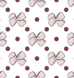 Seamless pattern background with handdrawn bows vector image vector image