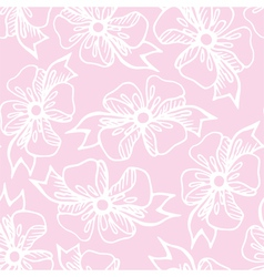 Seamless pattern with bow vector image vector image