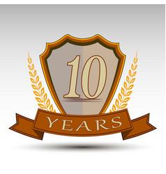 Shieldten years vector
