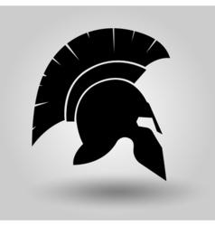 Spartan helmet silhouette vector