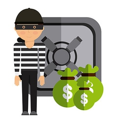Stealing money vector