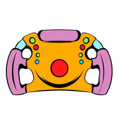 Steering wheel icon icon cartoon vector