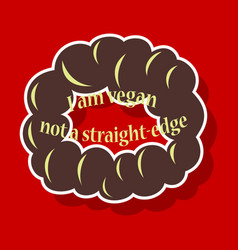vegetarian logo template design food logo sticker vector image vector image