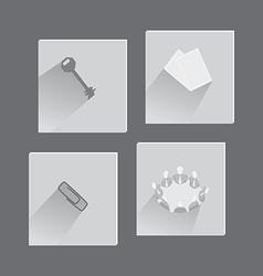 Office items and concepts in set of icons vector