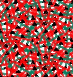 Artistic color brushed red green texture with vector