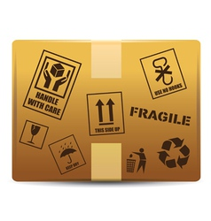 Fragile box delivery vector