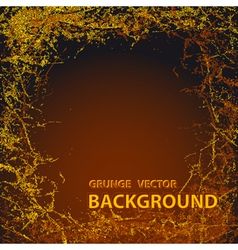 Background with grunge in dark brown colors vector