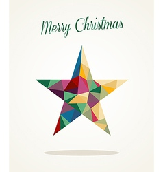 Merry Christmas contemporary triangle star vector image