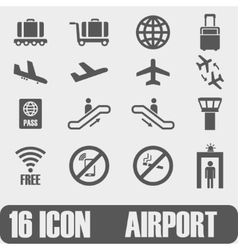 Icon airport on white background vector