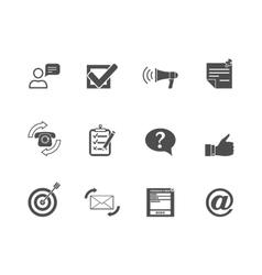 Feedback web icons set vector image