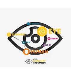 Vision eye infographic conceptual composition vector image