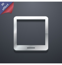 Tablet icon symbol 3d style trendy modern design vector