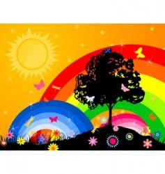 bright sky vector image