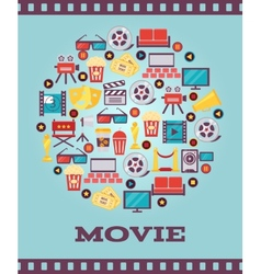 I love movies concept graphic designs vector