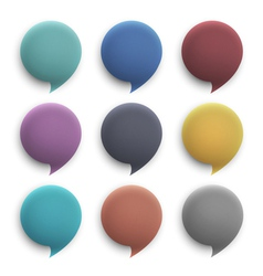 3d round speech bubbles vector image vector image
