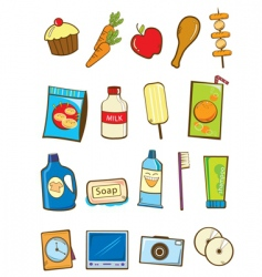 Supermarket item vector