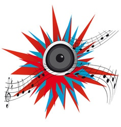 loud music from a speaker vector image