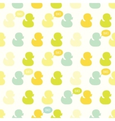 Seamless pattern with kiddish baby ducks vector