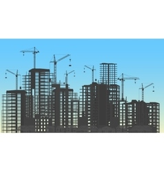 Building city under construction website process vector