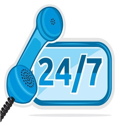 All day customer support call center vector image