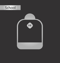 black and white style icon school bag vector image