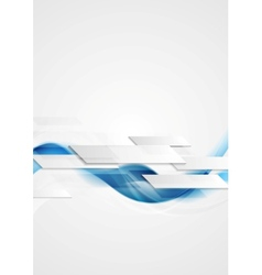 Blue shiny hi-tech motion waves background vector image