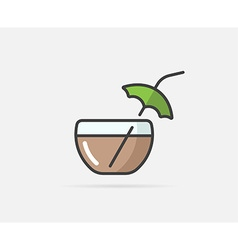 Cocktail can be used as Logo or Icon vector image