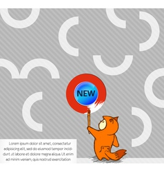 Cute kid with abstract background vector
