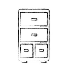 drawers icon image vector image vector image