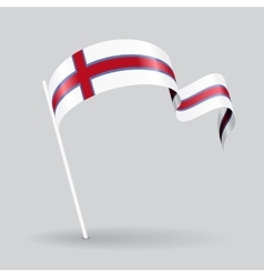 Faroe Islands wavy flag vector image