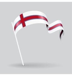 Faroe Islands wavy flag vector image vector image