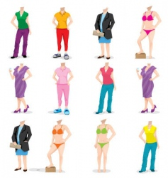 female bodies vector image vector image
