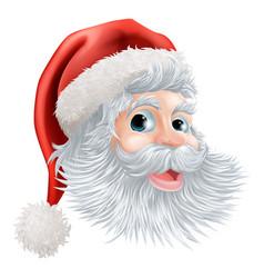 Happy christmas santa face vector