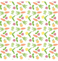 pattern of fruit and vegetables vector image