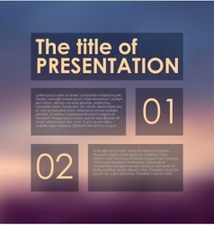 presentation panels on colored background vector image vector image