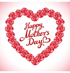 red rose mother Day Heart Made of Red Roses vector image vector image