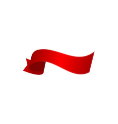 red surprise ribbon isolated icon vector image