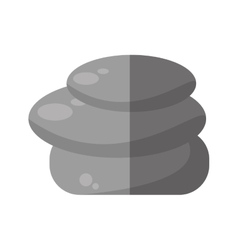 Rocks stones spa isolated icon vector