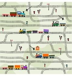 Seamless pattern railway vector image