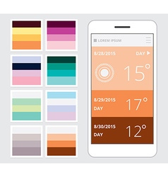 Smart phone flat design elements vector