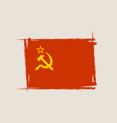 Soviet grunge flag with little scratches vector