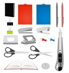 stationery collection vector image
