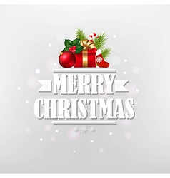 Vintage Christmas Poster With Text vector image vector image