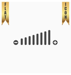 Volume adjustment symbol web icon vector