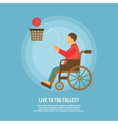 Wheelchair basketball poster vector