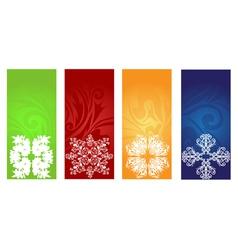 winter banners set vector image
