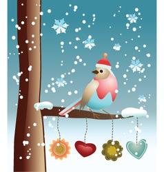 Winter Bird vector image vector image