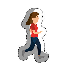 woman athlete practicing exercise avatar character vector image vector image